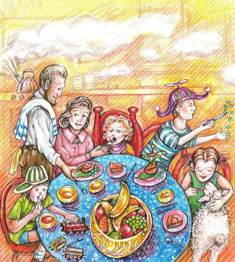 Banana Lil. Childrens Book Illustration