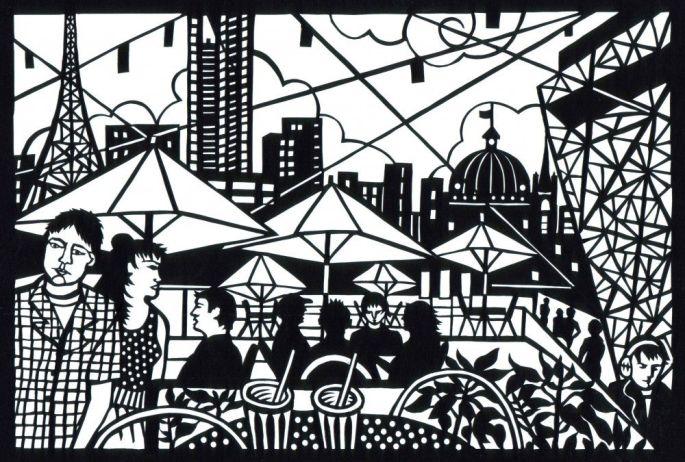 Federation Square Melbourne. City Patterns Series