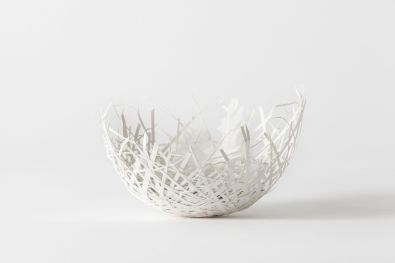 Nest Egg Bowl with Feathers